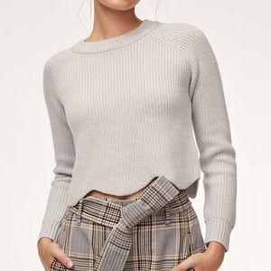 WILFRED Aritzia Wool Sardou Sweater Light Birch